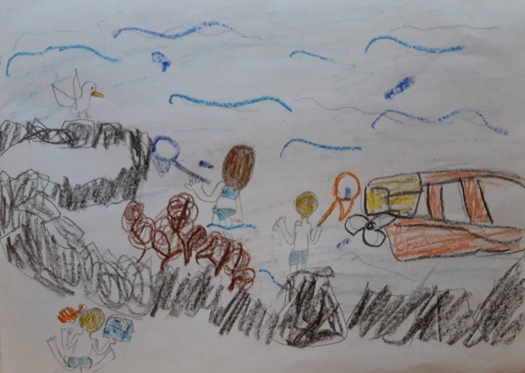 Ilustracija igre pecanja