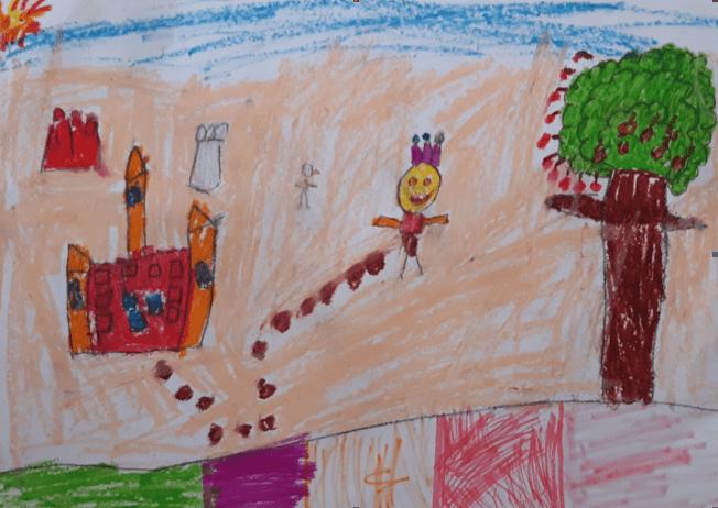Djevojčica, 5,5 god. Ilustracija priče
